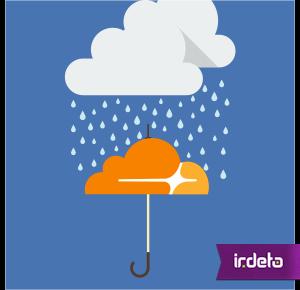 Cloudflare anti-piracy case image of cloud burst over umbrella