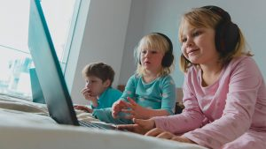 Children on computer